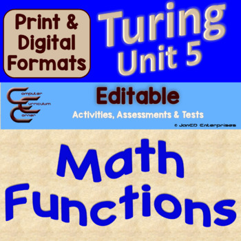 Turing Unit 5 Math Functions