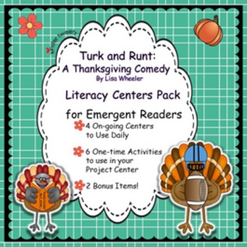 Turk and Runt's Thanksgiving-Literacy Centers for Emergent Readers