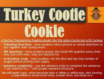 Turkey Cootie Cookie