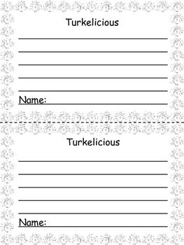 Thanksgiving Turkey Literacy Craft