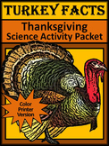 Turkey Activities: Turkey Facts Thanksgiving Science Activ