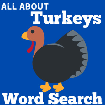 Turkey Activity | Turkey Word Search | Turkey Thanksgiving