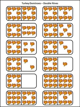 Thanksgiving Math Activities: Turkey Thanksgiving Dominoes Math Activity Packet