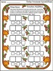 Thanksgiving Math Activities: Turkey Thanksgiving Dominoes Game Bundle -Color&BW