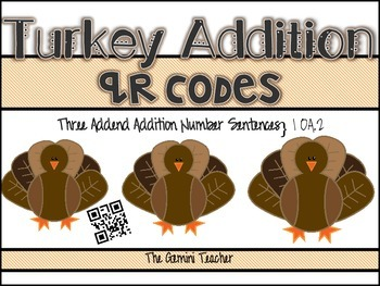 Turkey 3 Addend QR Codes
