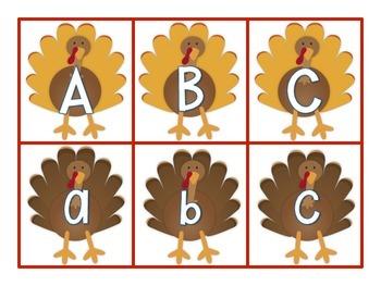 Thanksgiving Turkey ABC Match Up Game
