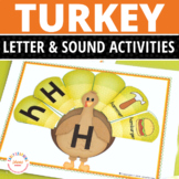 Turkey Alphabet and Beginning Sound Activity | Thanksgiving Activities