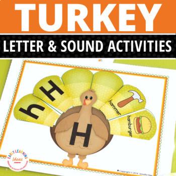Turkey Alphabet and Beginning Sound Activity   Thanksgiving Activities