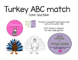 Turkey ABC letter matching Game