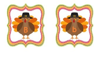 Turkey ABC match- Match upper and lowercase letters