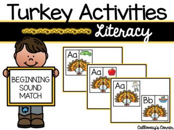 Turkey Beginning Sound Match