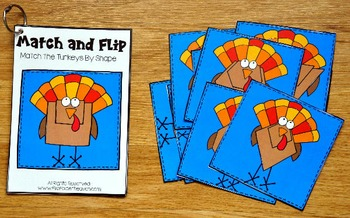 Turkey Activities:  Turkey Match and Flip Books