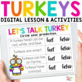 Turkey Activities for Thanksgiving for PowerPoint & Google