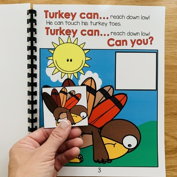 """Turkey Adapted Book For Movement And Imitation Skills--""""Turkey Can, Can You?"""""""