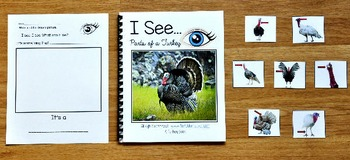 """Turkey Adapted Book:  """"I See Parts of a Turkey"""""""