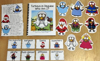 """Turkey Adapted Book--""""Turkeys In Disguise, Who Am I?"""""""