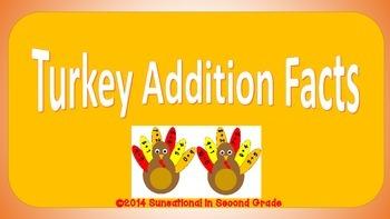 Turkey Addition Facts (#'s 1-10)