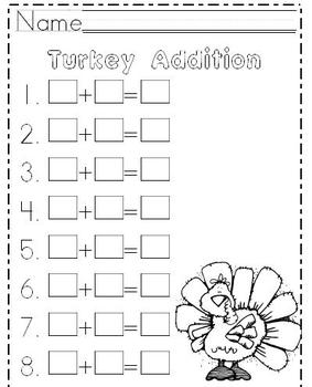 Turkey Addition Math SMARTBoard Lesson