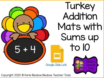 Turkey Addition Mats with Sums up to 10