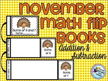 Thanksgiving Math Flip Books