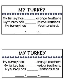 Turkey Addition {Sums to 10}