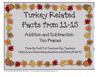 Turkey Addition and Subtraction of Related Facts for numbe