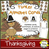 Alphabet Matching Cards ~ Turkey/Thanksgiving