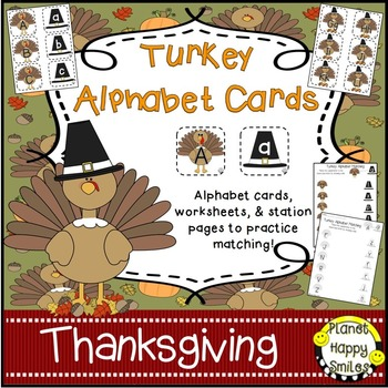 Alphabet Matching Cards ~ Turkey/Thanksgiving