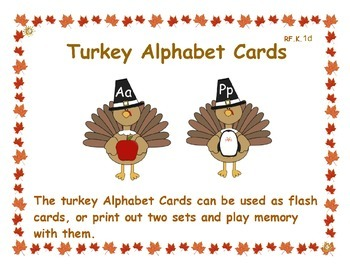 Turkey Alphabet Cards