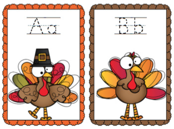 Turkey Alphabet Cards and Number Cards
