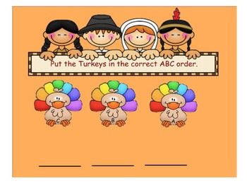 Turkey Alphabet Feast