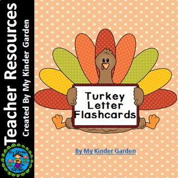 Turkey Alphabet Letter Flashcards Uppercase and Lowercase