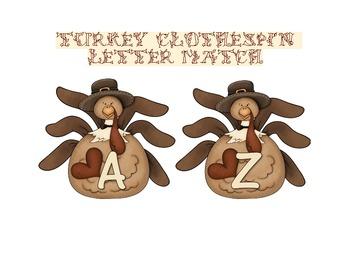 Turkey Alphabet Letter Match