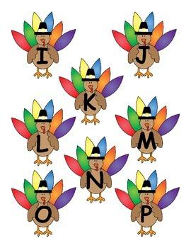 Turkey Alphabet Matching