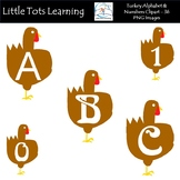 Turkey Alphabet & Numbers Clip Art - Alphabet Letters & Nu