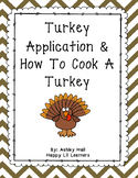 Turkey Application & How To Cook A Turkey Printable