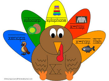 Turkey Around Tracing and Writing Mats and Sheets