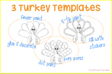 Turkey Template {Art Activities}