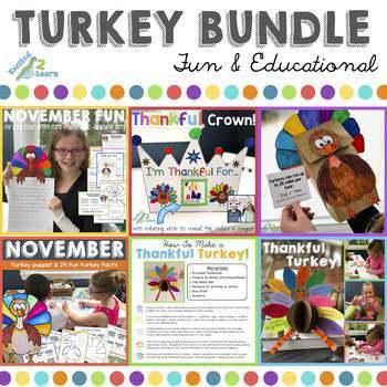 Turkey Activities BUNDLE (Fun and Educational)