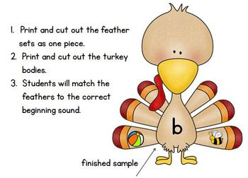 Turkey Beginning Sounds Match