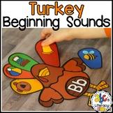 Turkey Beginning Sounds Sort Activity