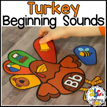 Turkey Beginning Sounds Sort Activity
