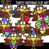 Turkey Birthday Clip Art {Scrappin Doodles Clipart}