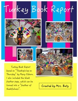 Turkey Book Report and Craft