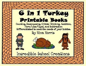 November Turkey Books - 6 in 1 product!