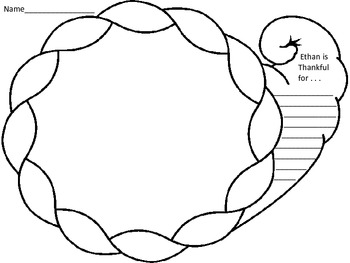 Turkey Bowl Cornucopia craftivity