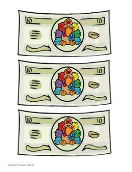 Turkey Bucks! (Thanksgiving Money)