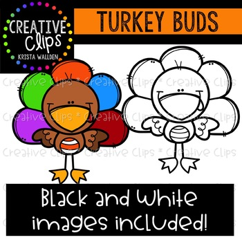 Turkey Buds: Thanksgiving Clipart {Creative Clips Clipart}