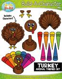 Turkey Build-A-Character Clipart {Zip-A-Dee-Doo-Dah Designs}