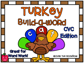 Turkey Build-a-Word CVC Word Work Center